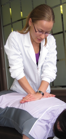 North York Chiropractor, Dr. Miron, Performing a Chiropractic Adjustment